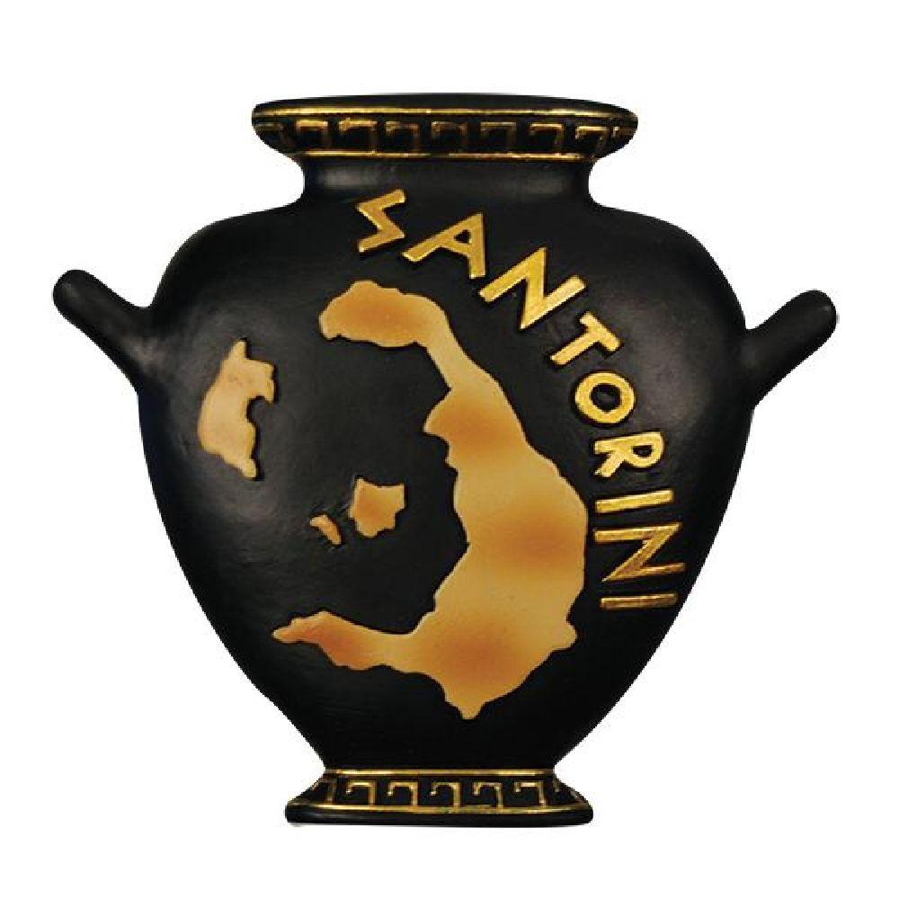 Greek fridge magnet amphora Santorini