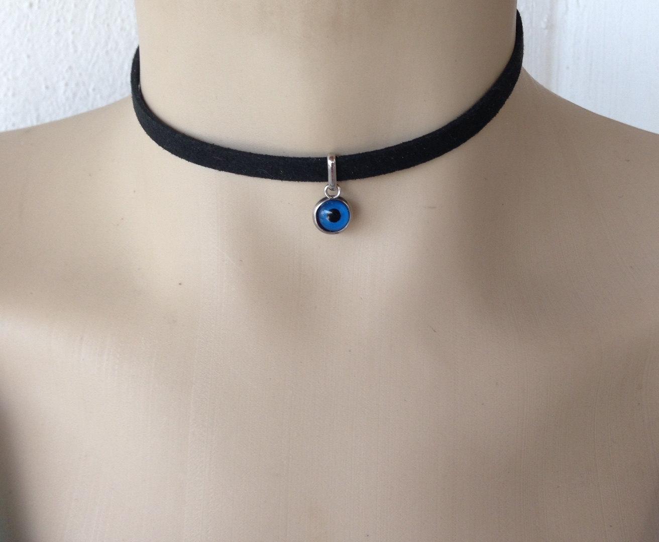 Evil eye choker necklace