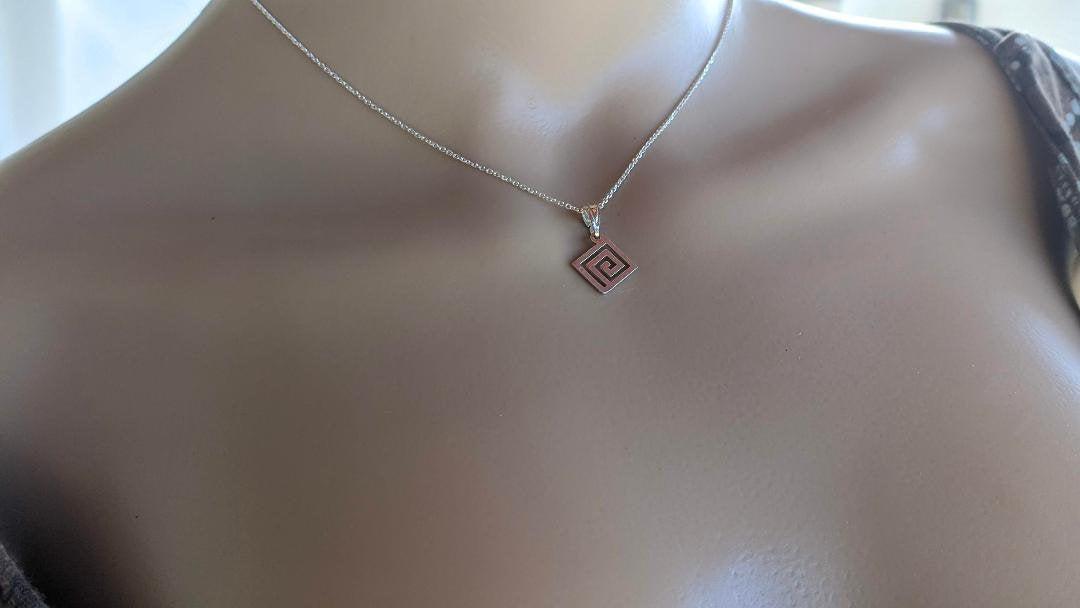 Meander Greek pendant