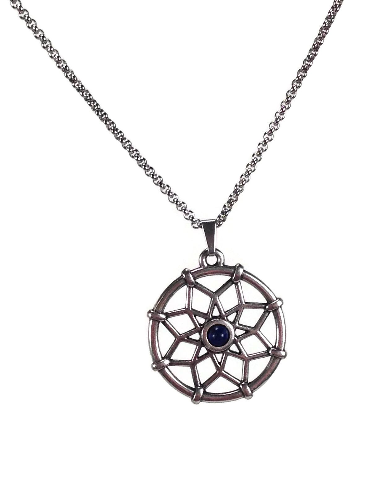 dream catcher necklace lapis lazuli