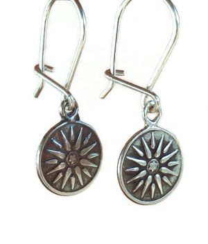 Minoan phaistos silver earrings