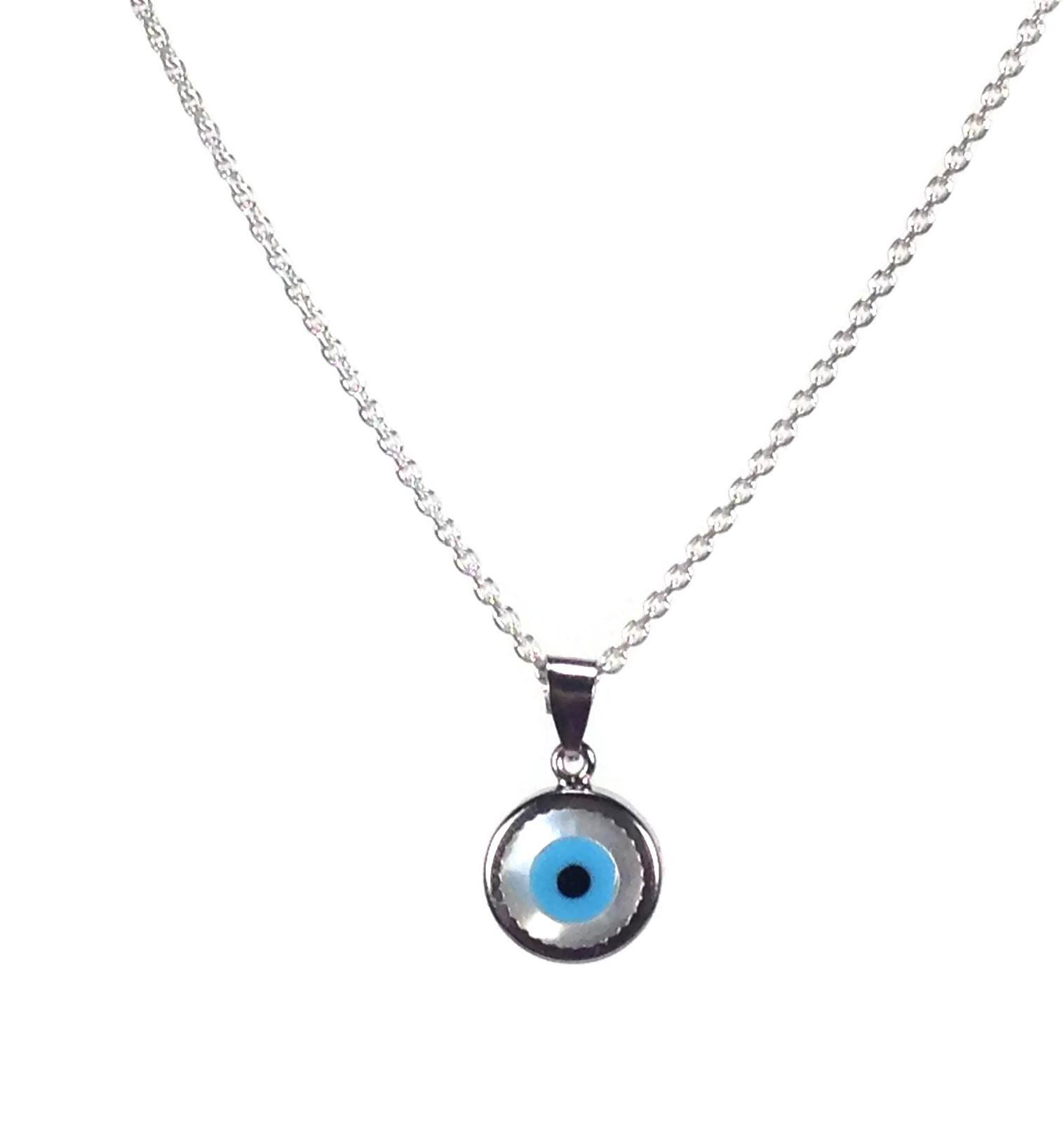 evil eye sterling silver necklace