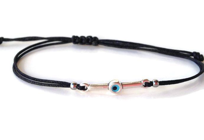 Evil eye bar bracelet