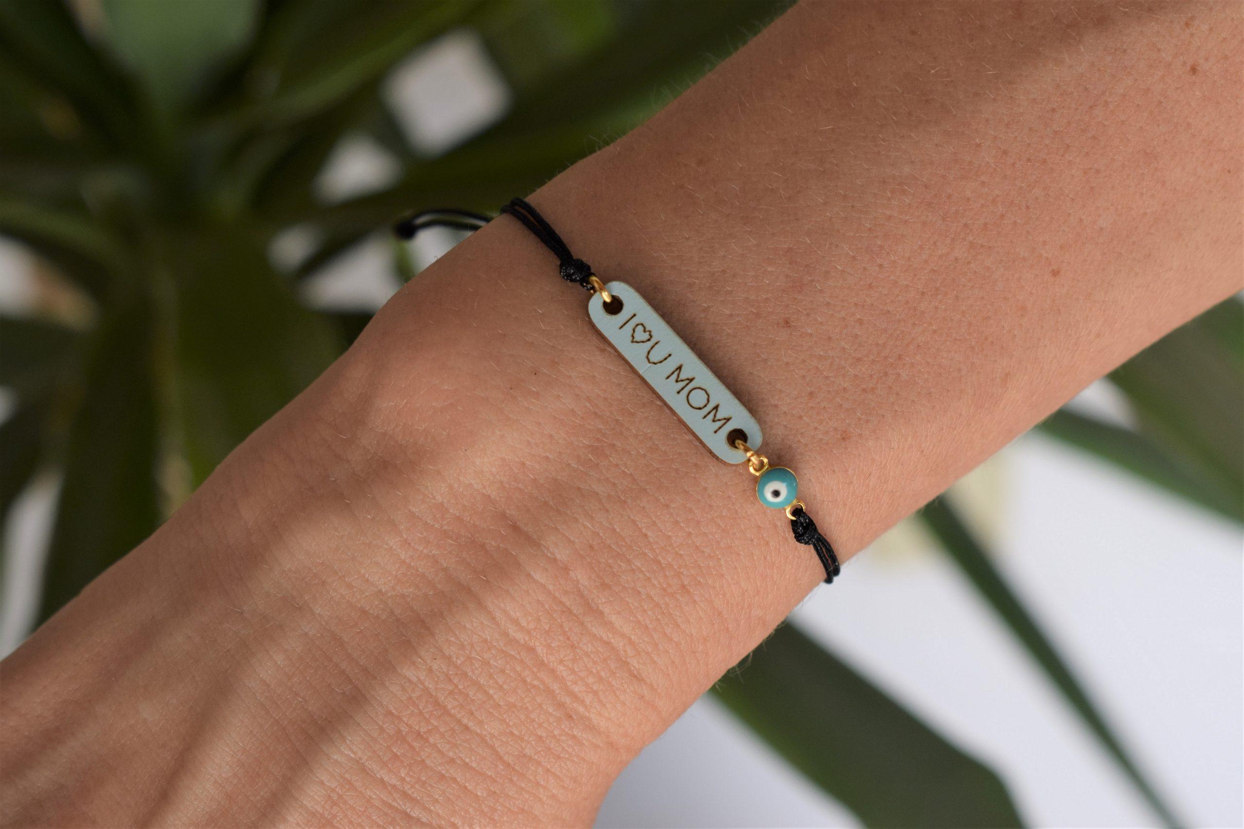 Evil eye mom bracelet