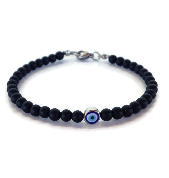 evil eye onyx bracelet – gift for her or for him