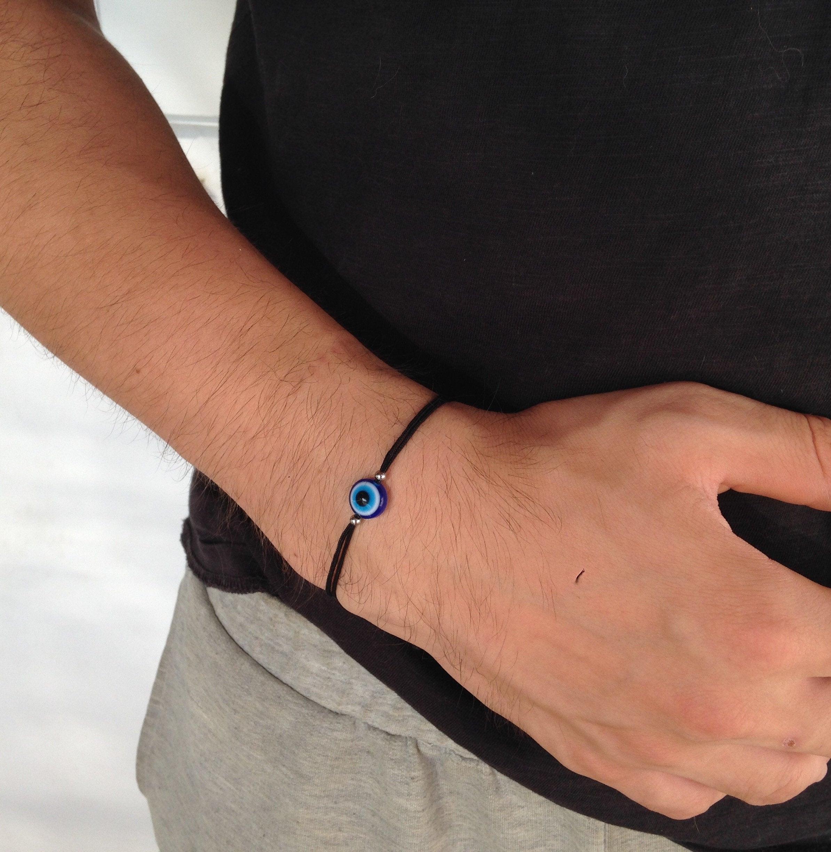 evil eye mens bracelet