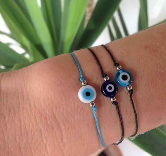 evil eye string bracelet
