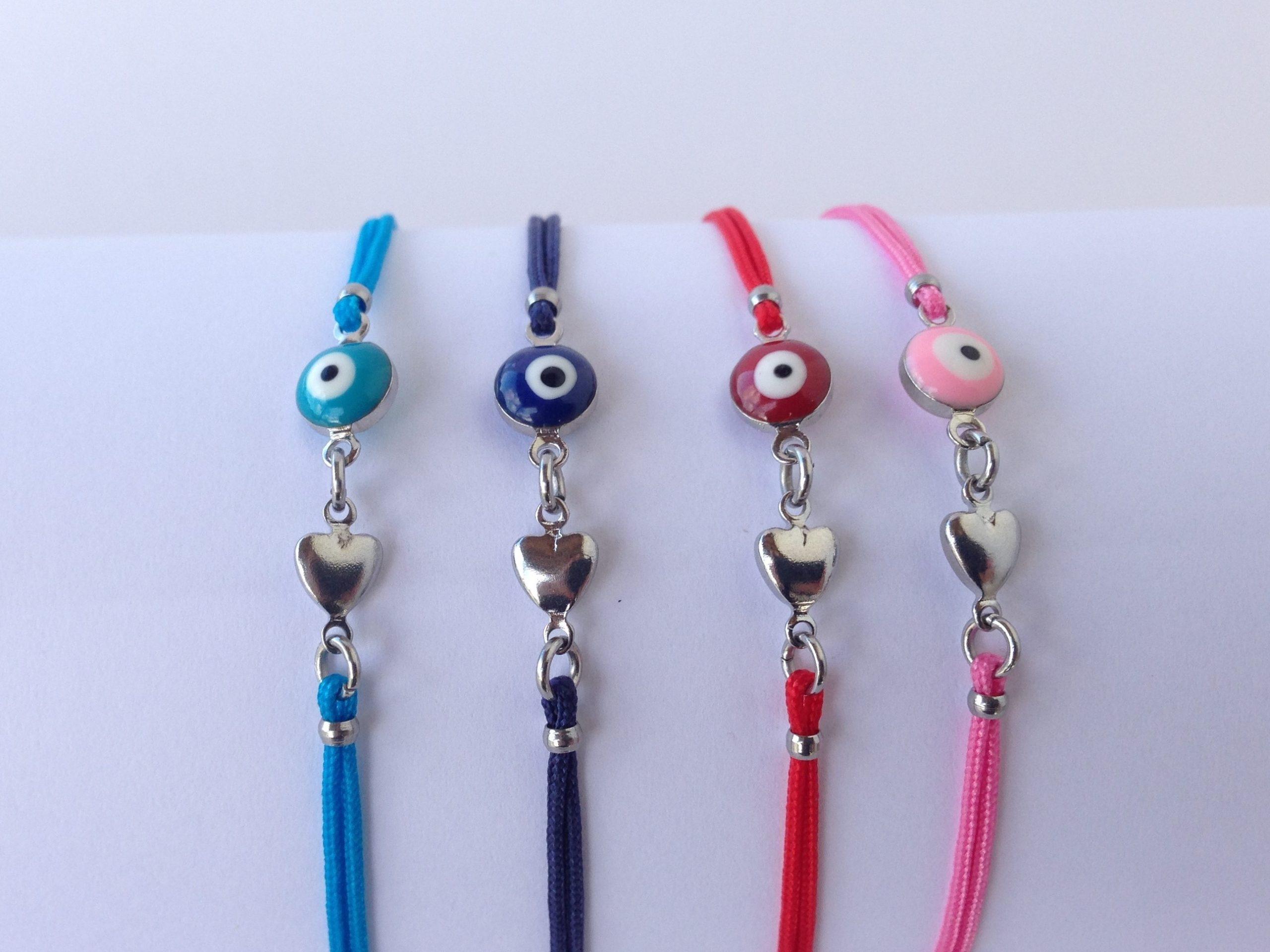 evil eye heart bracelet in four colors (2)