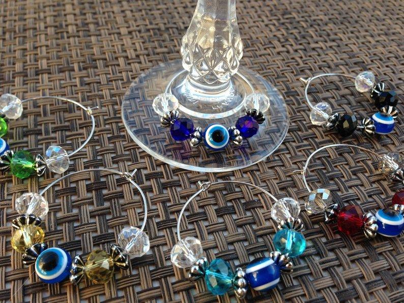 evil eye glass charm party favors