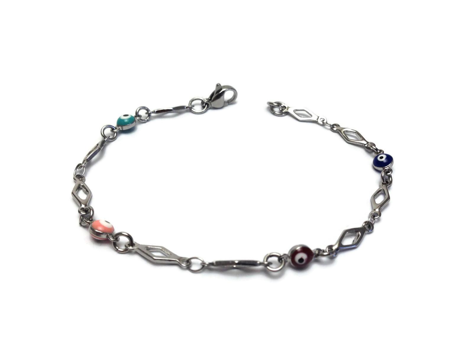 evil eye rhombus links bracelet