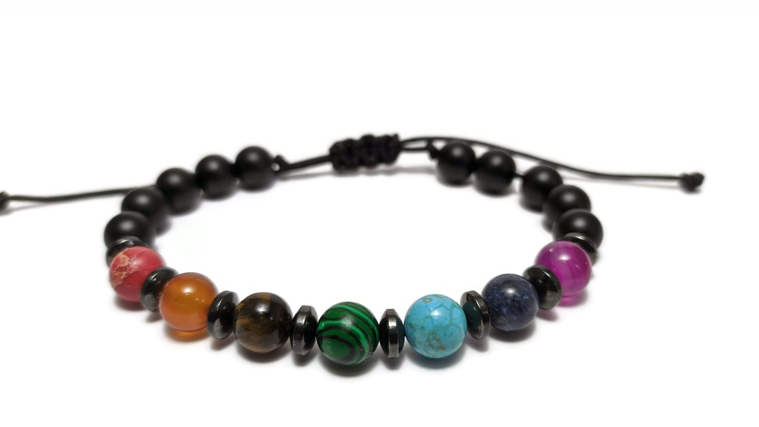 7 chakra beads bracelet