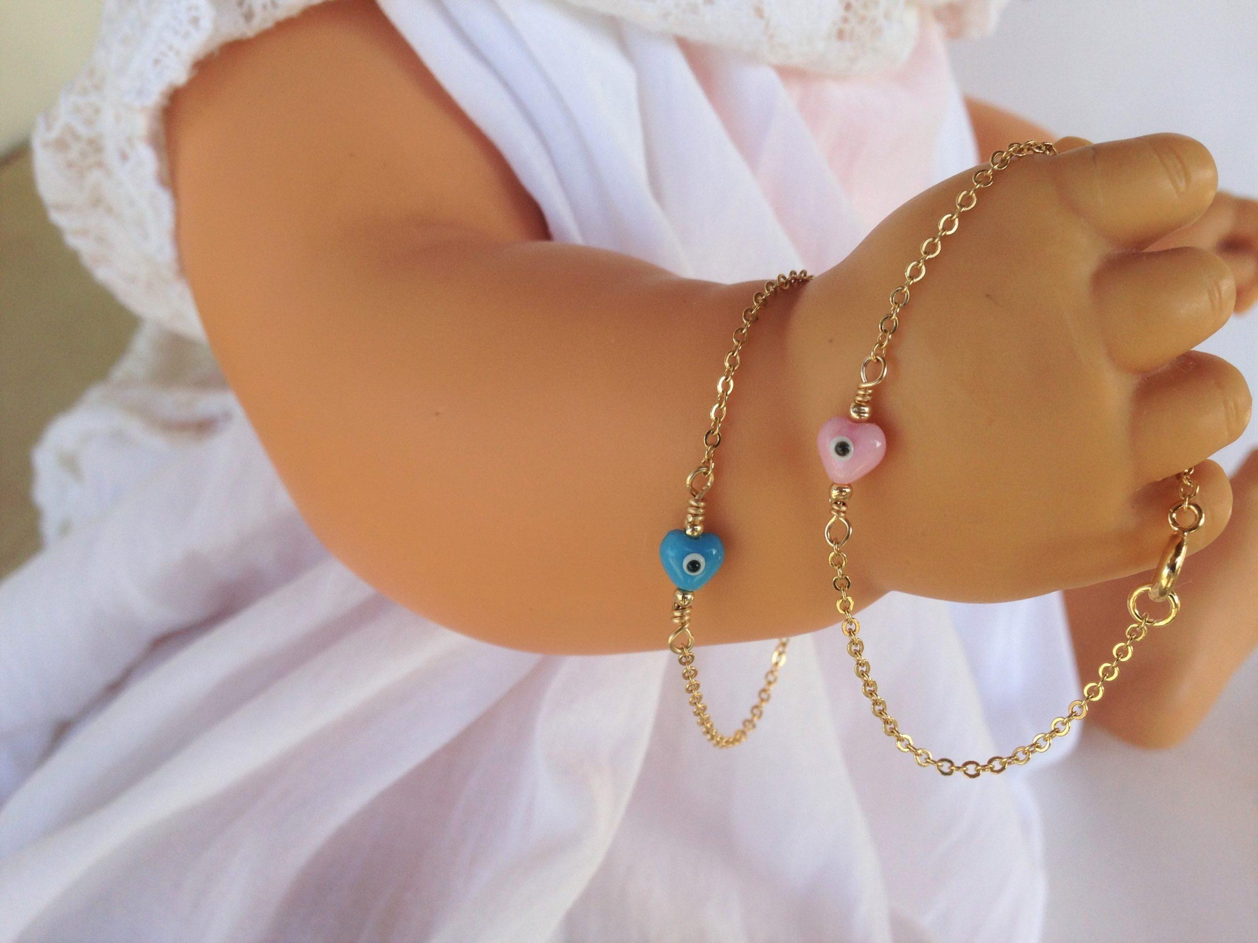 little girl gold filled evil eye bracelet