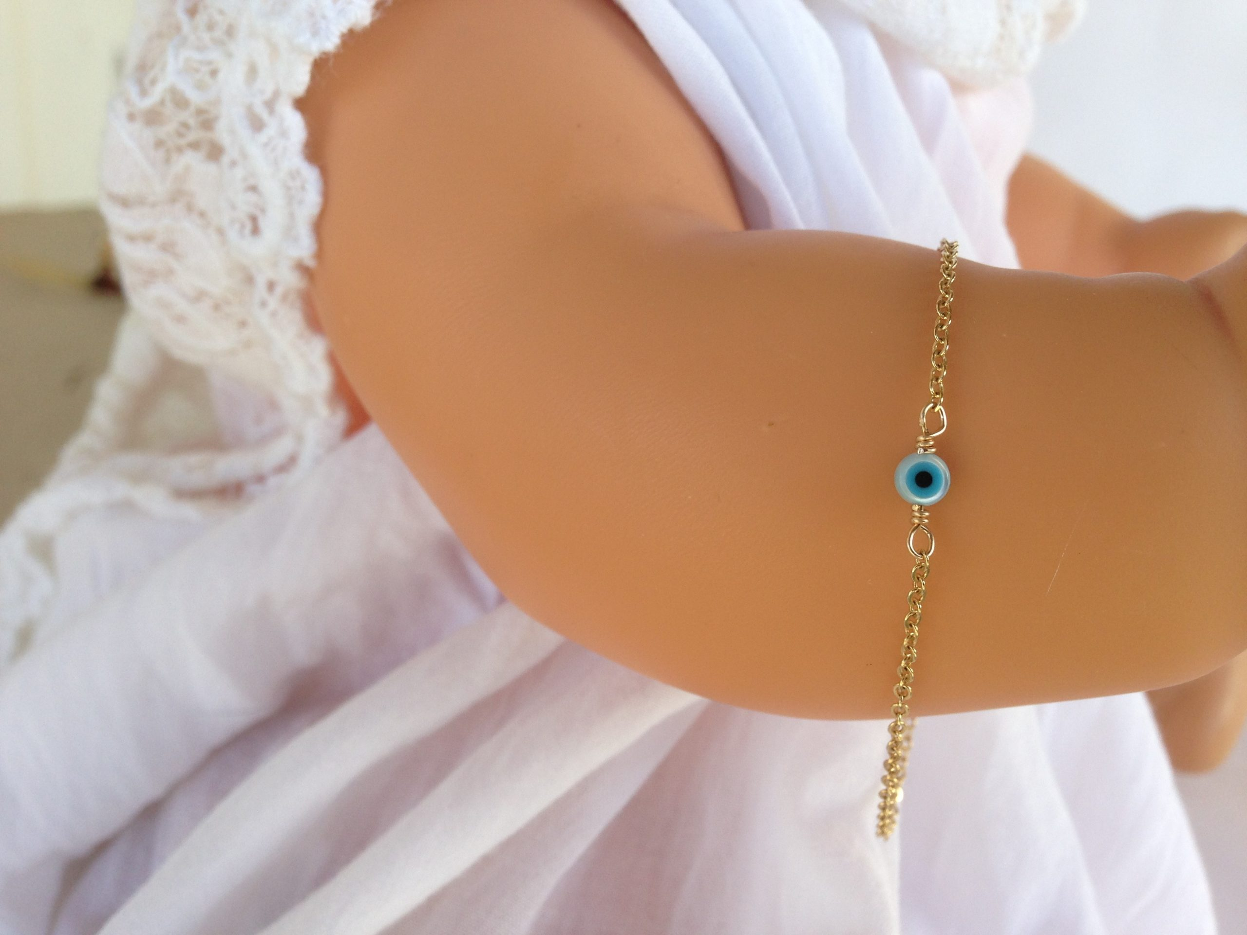 evil eye mother of pearl necklace