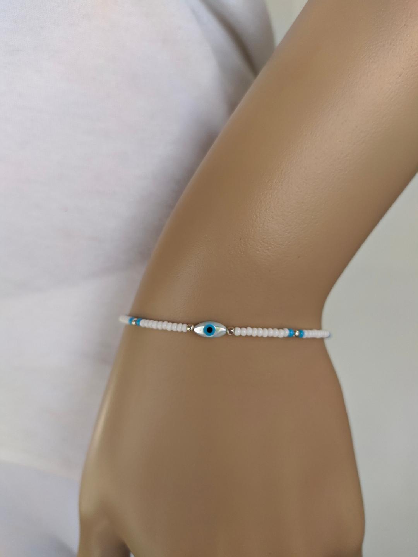 evil eye beaded bracelet