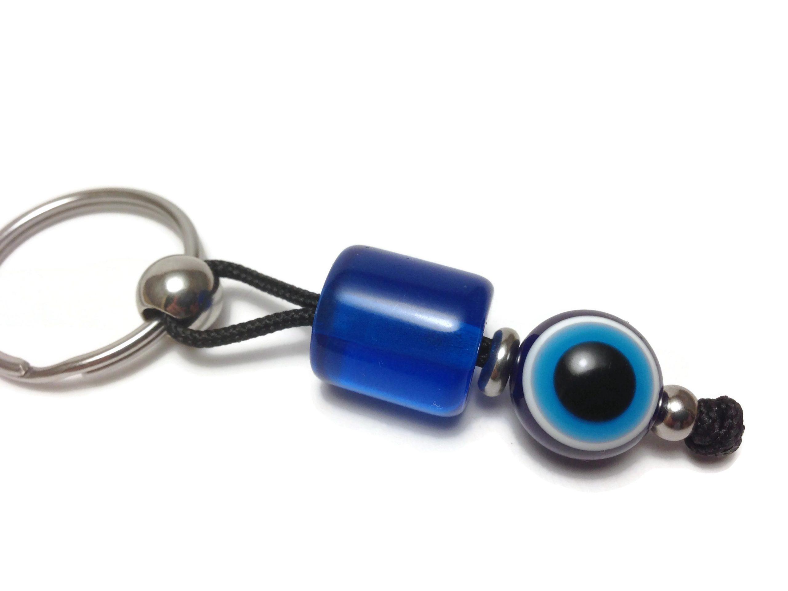 greek evil eye keychain