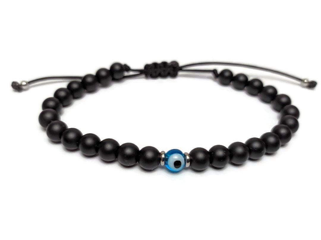 Evil eye onyx bracelet