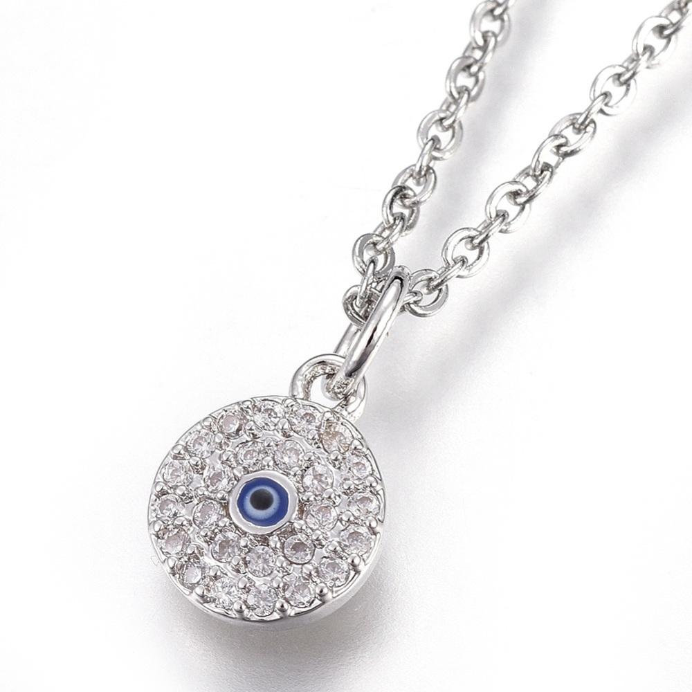 cz evil eye necklace