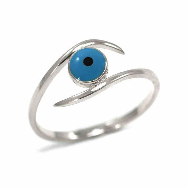 evil eye sterling silver ring
