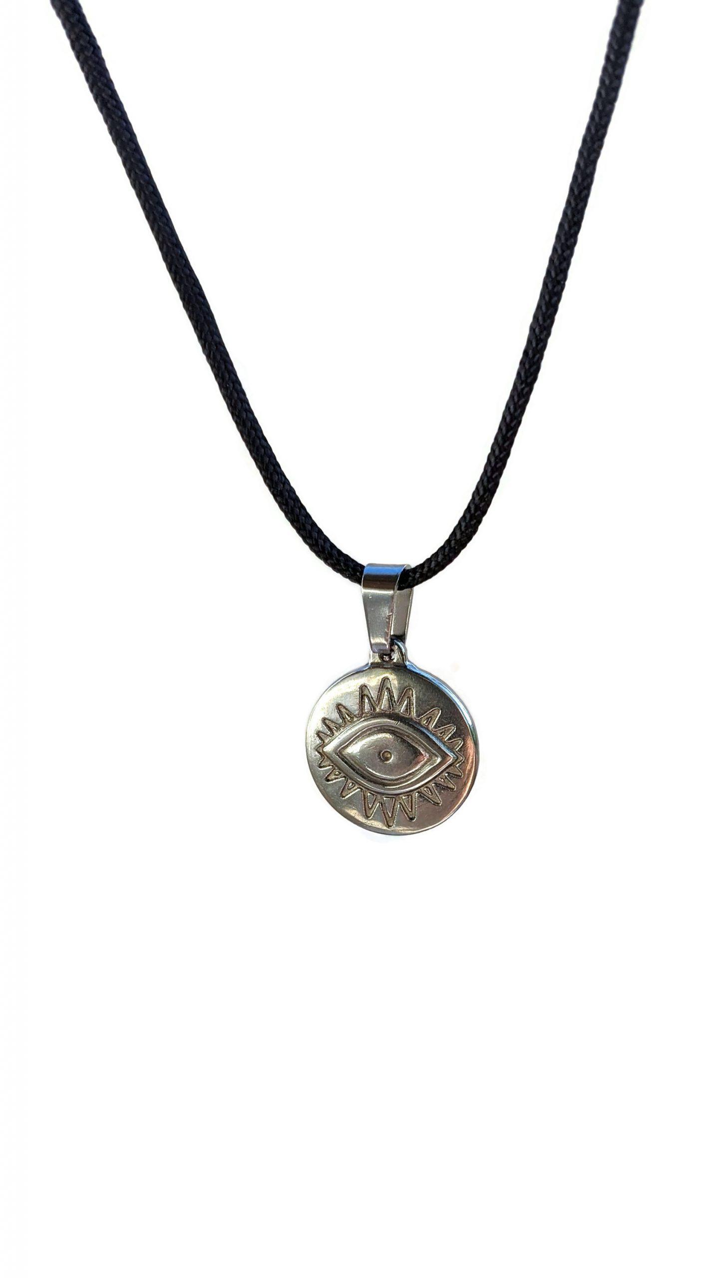 Evil eye stainless necklace for men