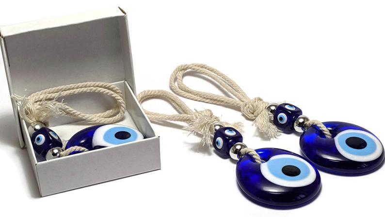 Evil eye glass charm
