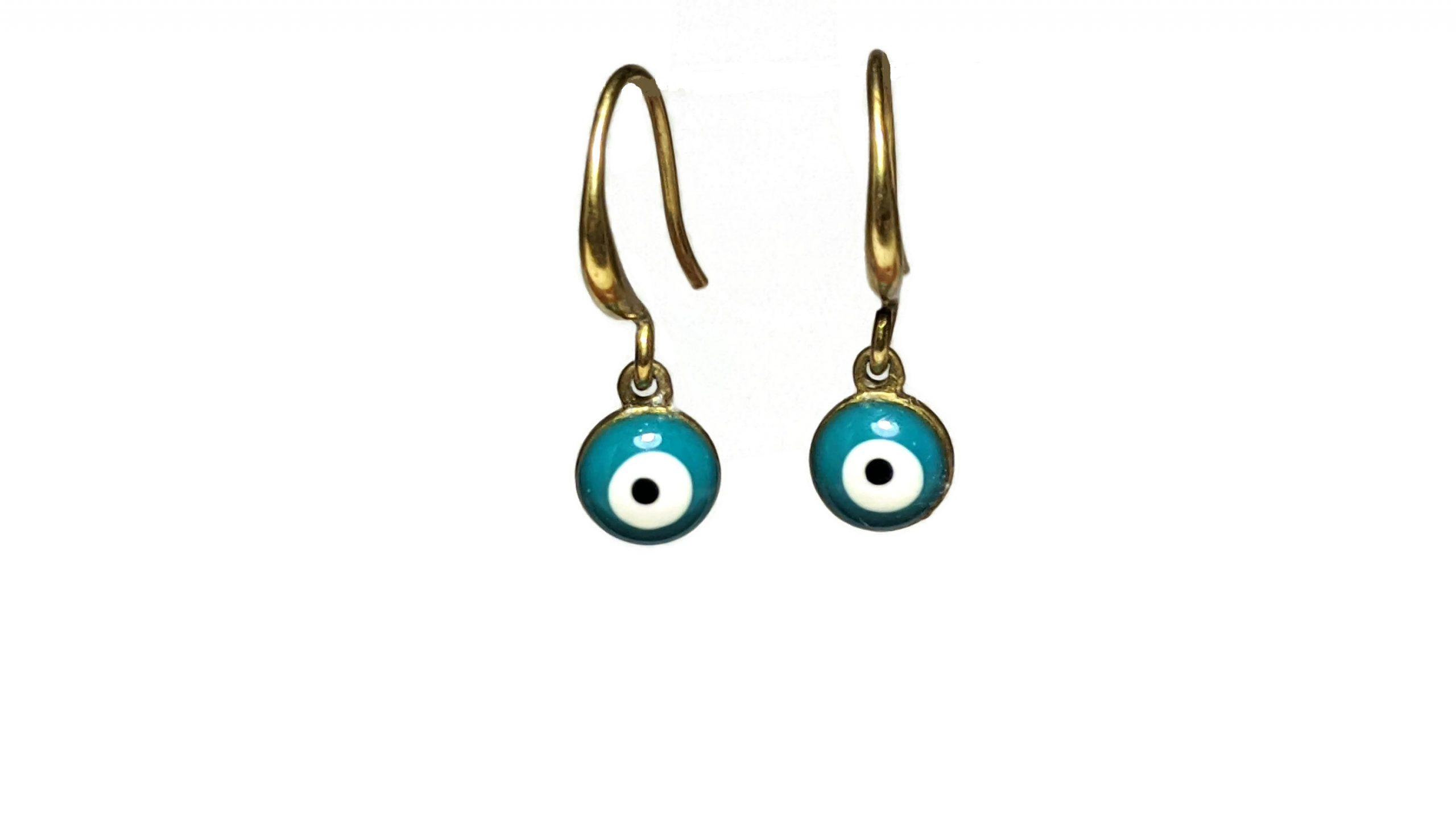 Greek enamel evil eye earrings
