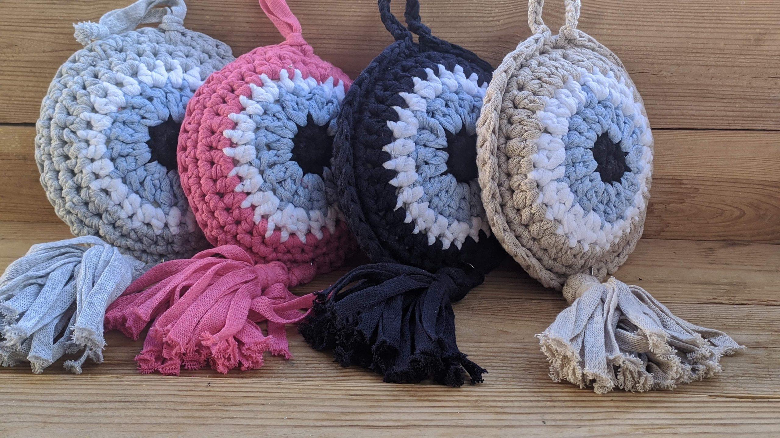 Crochet  evil eye wall hanging