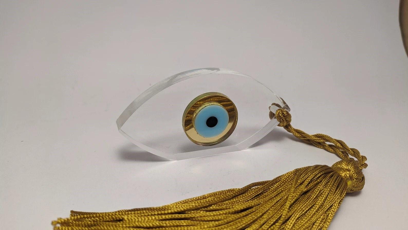 evil eye plexiglass transparent