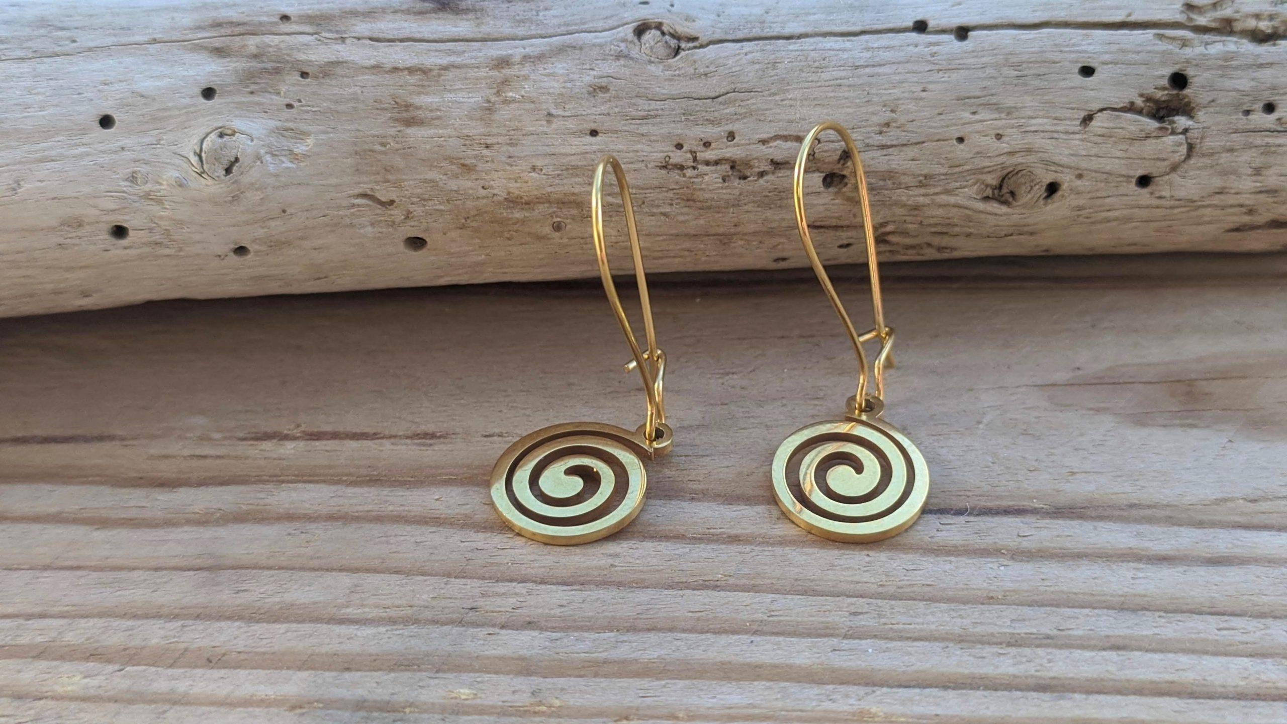 Greek spiral earrings