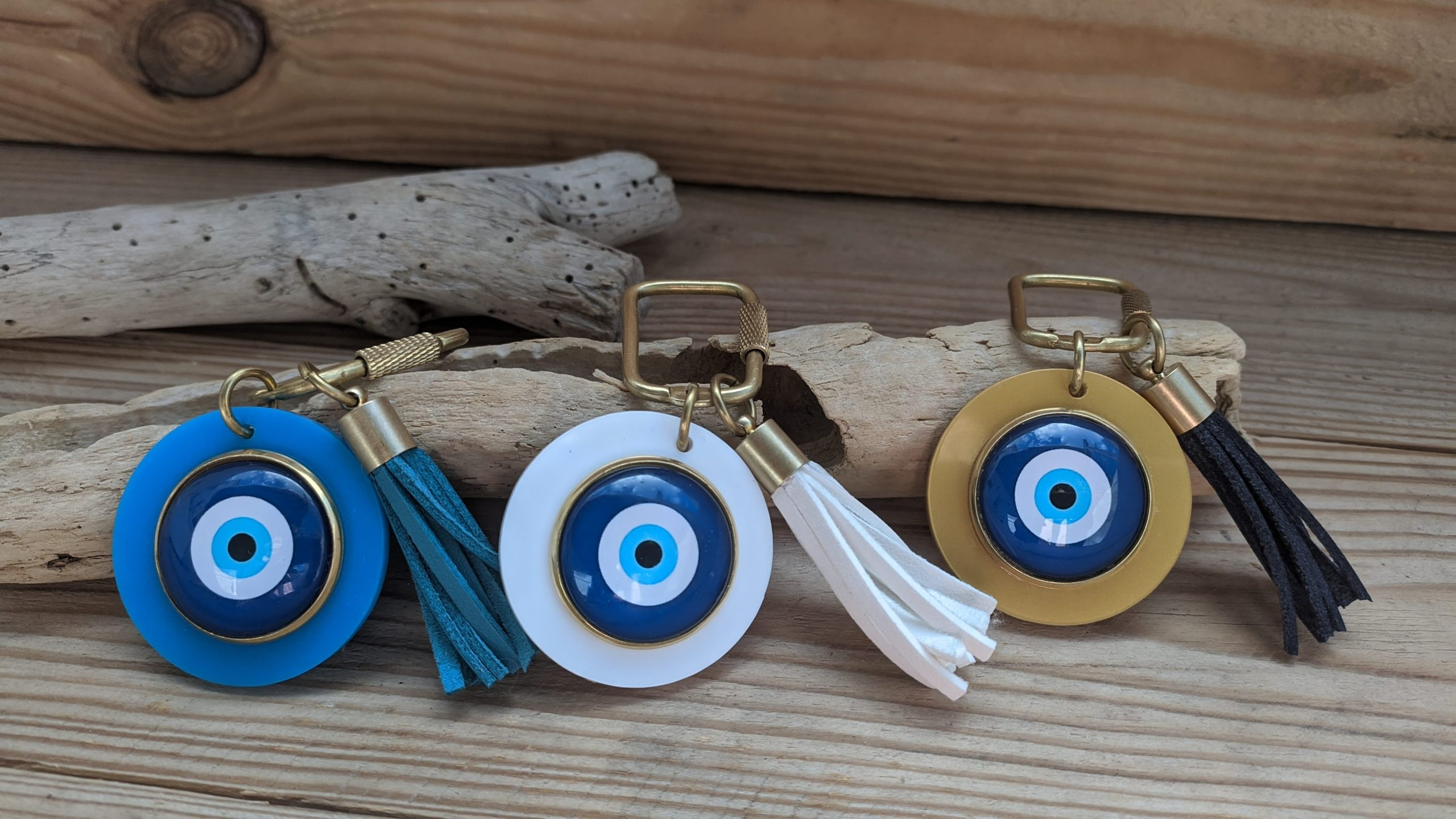 Evil eye keychain  -bag charm