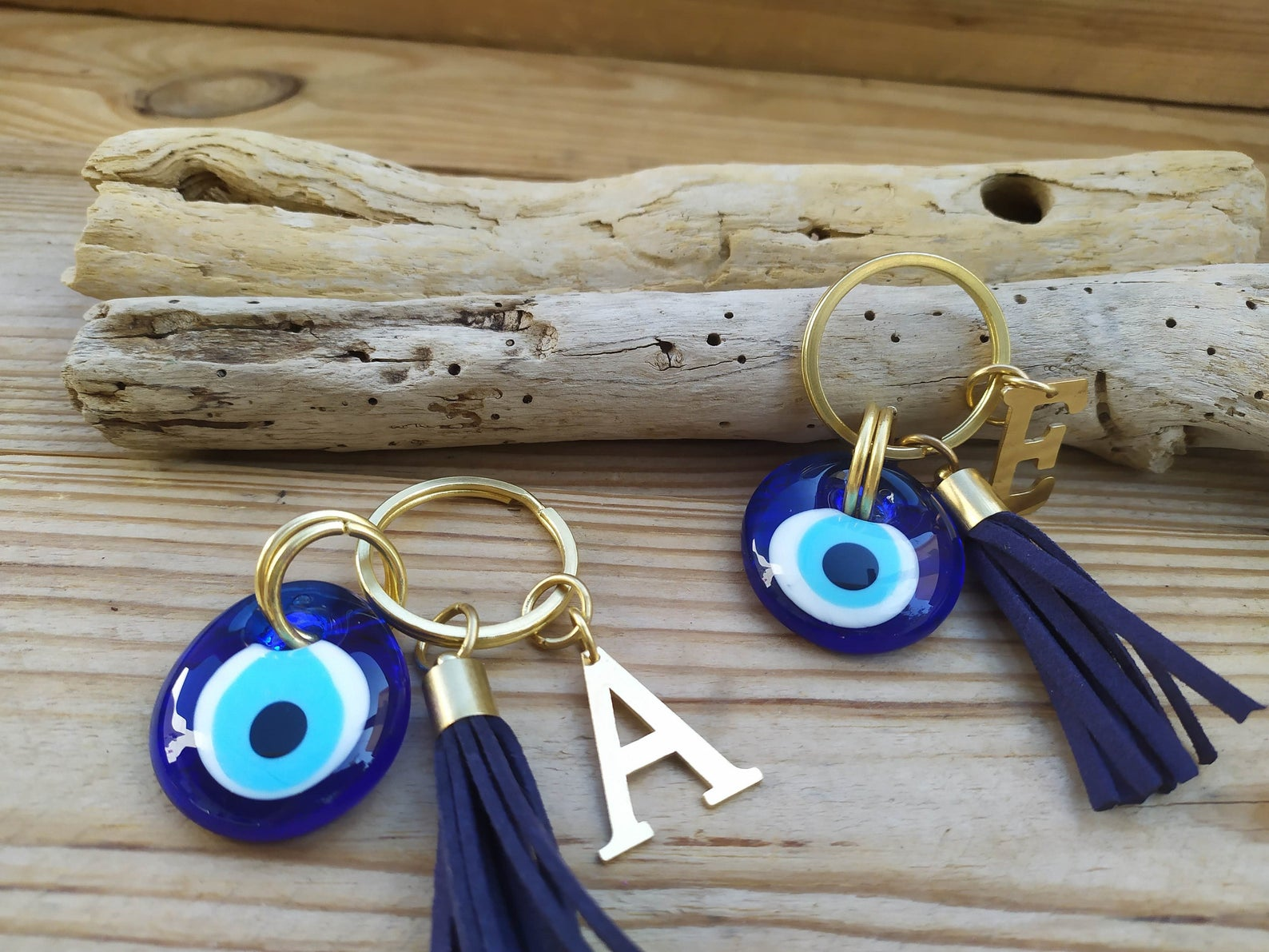 Personalized evil eye keychain