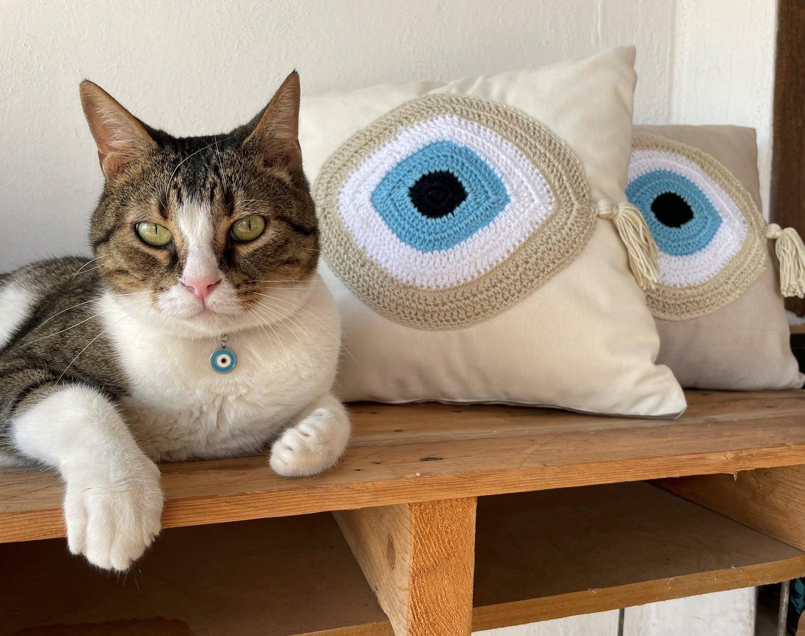 Evil eye cushions