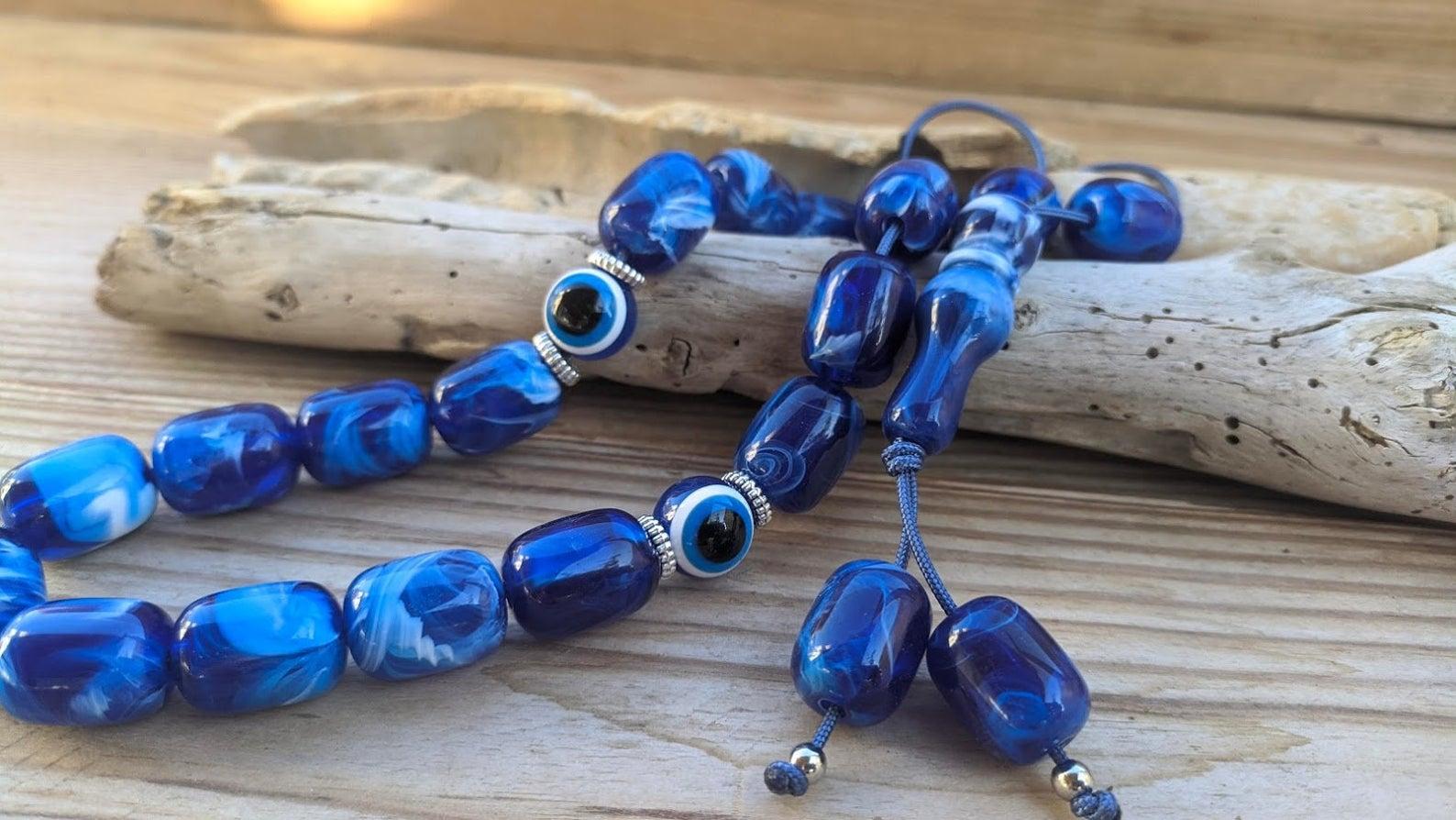 evil eye worry beads
